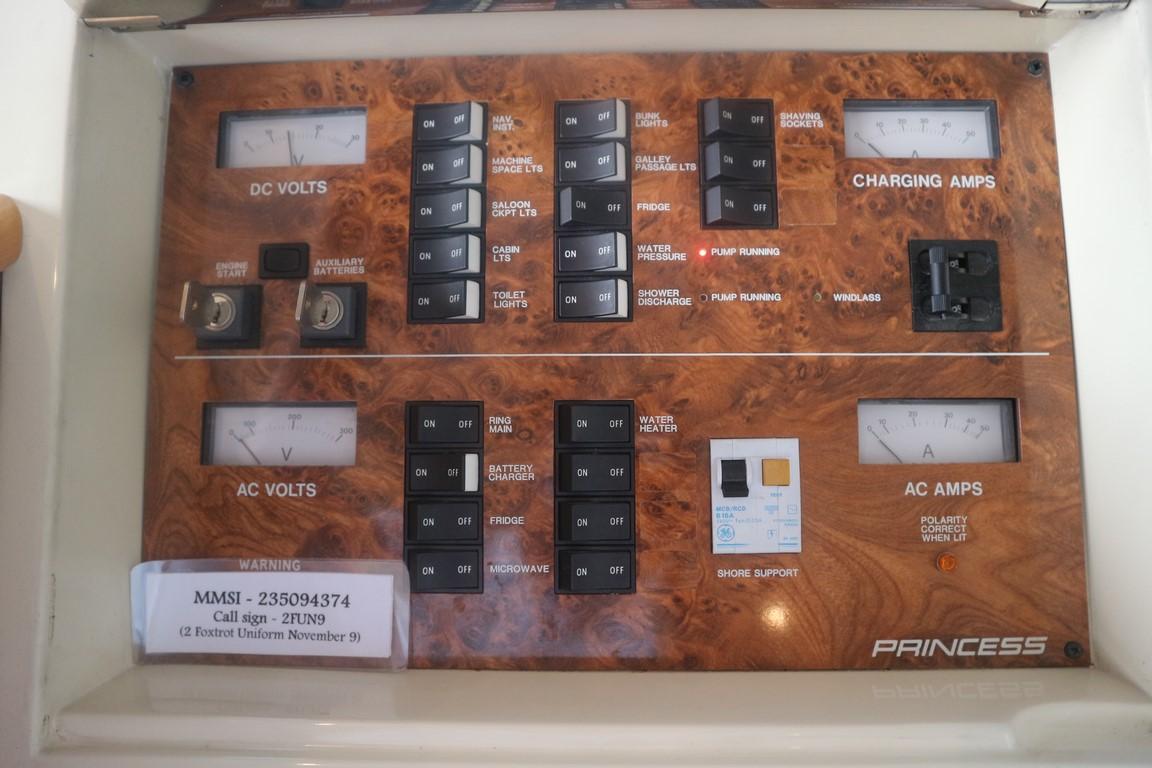 princess yacht control panel